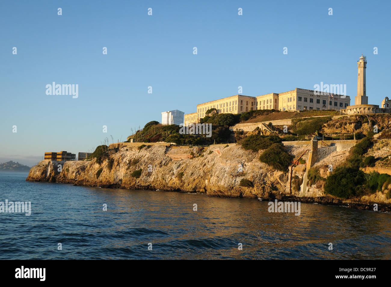 Alcatraz Island in the evening - Stock Image
