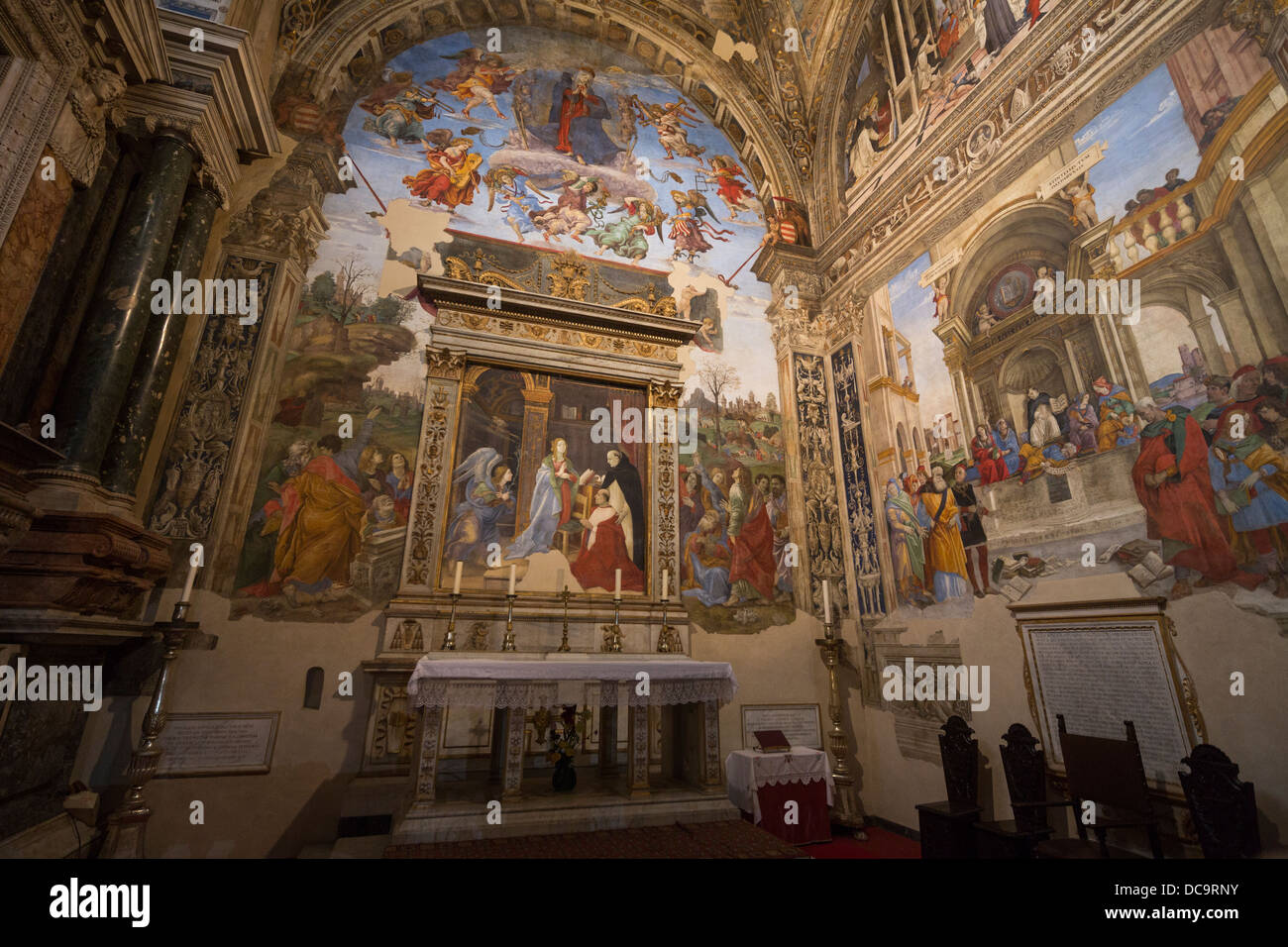 The Carafa Chapel, Santa Maria sopra Minerva church, Rome, Italy Stock Photo
