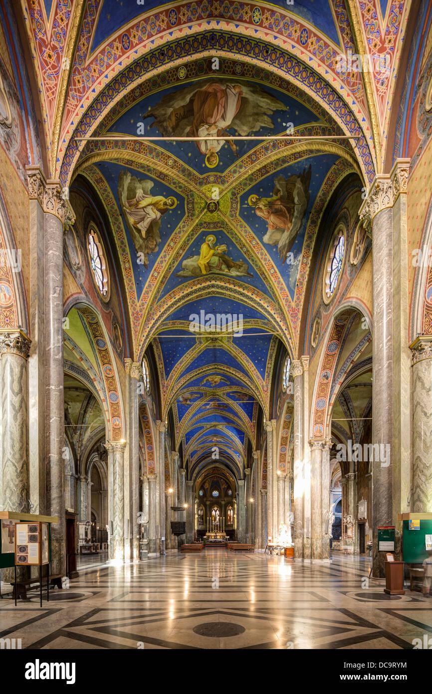 nave, Santa Maria sopra Minerva church, Rome, Italy Stock Photo