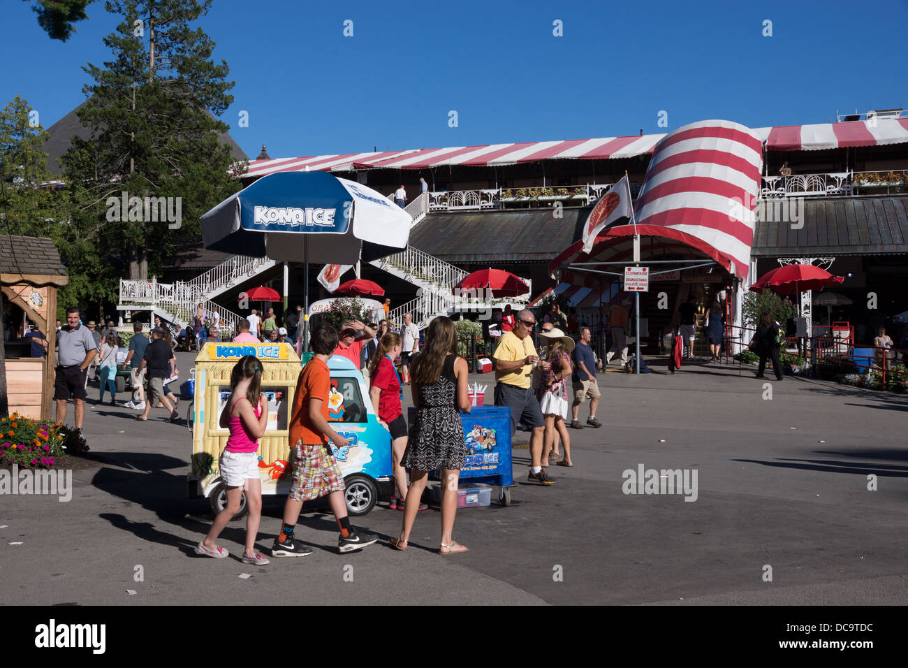 Saratoga Raceway is the oldest racetrack in the US, and celebrating 150 years of operation in 2013. - Stock Image