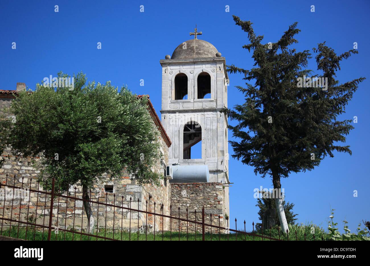 Apollonia, Illyria, a ancient greek city in Albania. Monastery Shen Meri Stock Photo