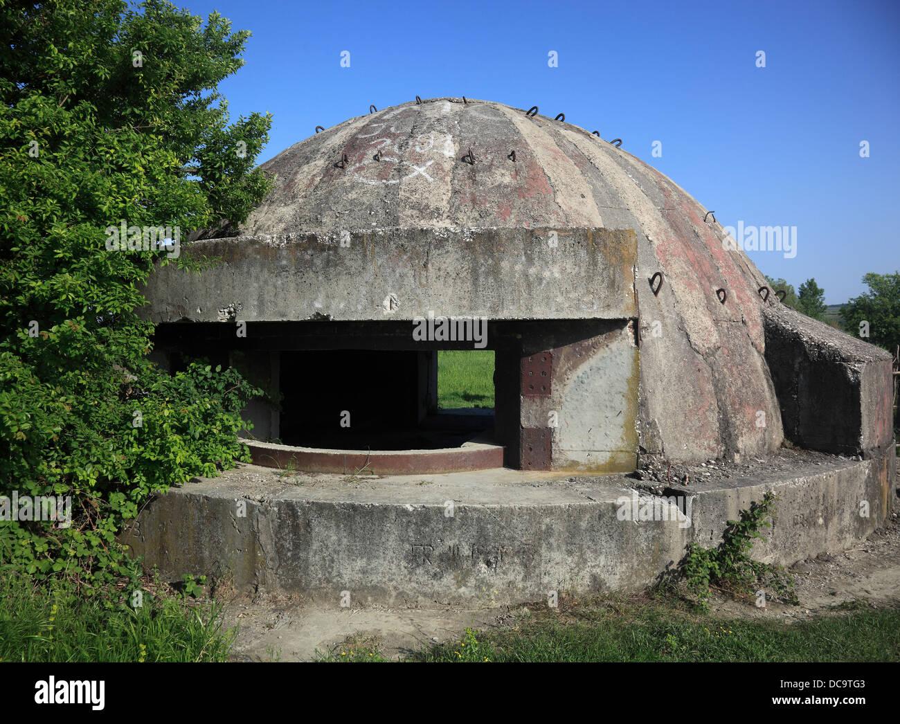 Bunker from the time of Enver Hoxha, near Berat, Albania - Stock Image