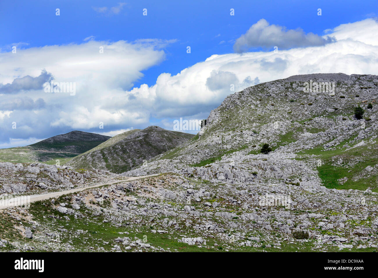 Beautiful landscapes in the Dinaric mountains in Bosnia. - Stock Image