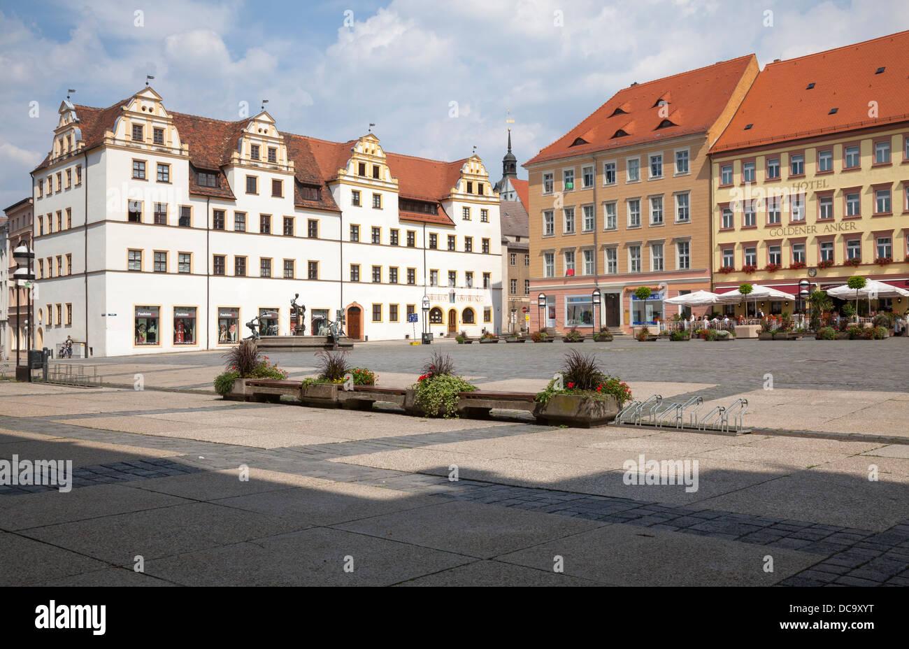 Marktplatz, Torgau, Saxony, Germany Stock Photo