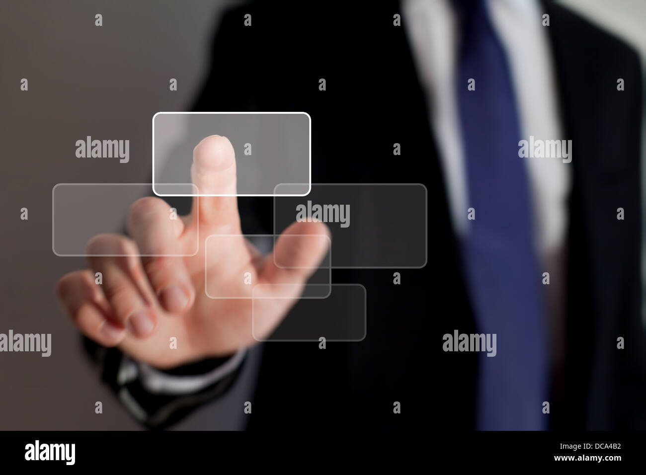 smart interface of business technology - Stock Image