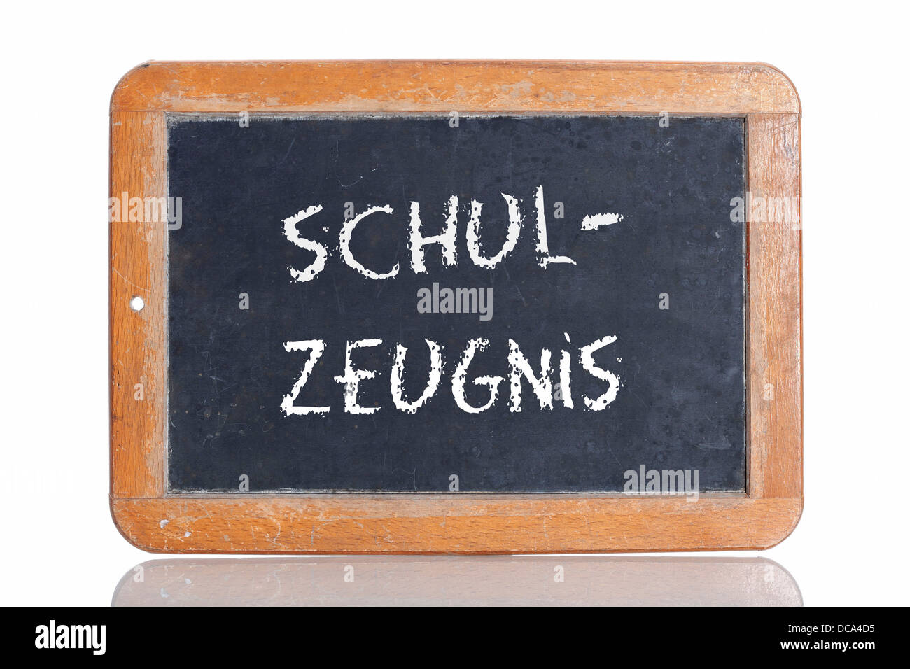 Zeugnis stock photos zeugnis stock images alamy old slate blackboard with the word schul zeugnis german for school spiritdancerdesigns Gallery