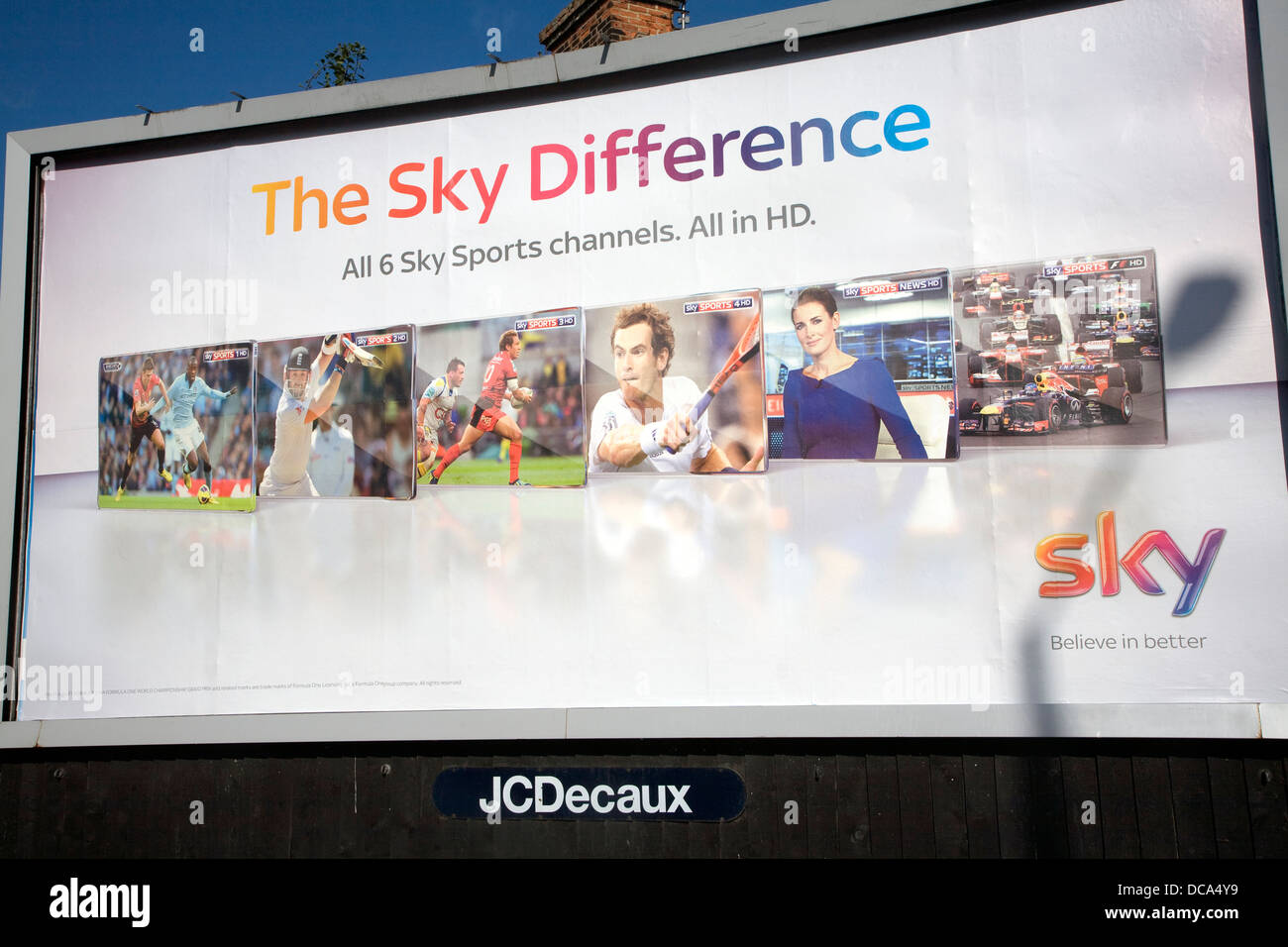 The Sky difference advertising billboard poster - Stock Image