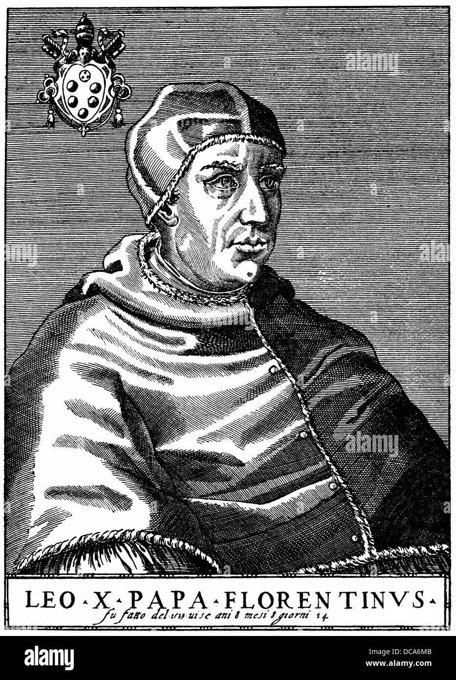 Leo X or Giovanni de Medici, 1475 -1521, Pope of the Catholic Church from 1513 to 1521 Stock Photo