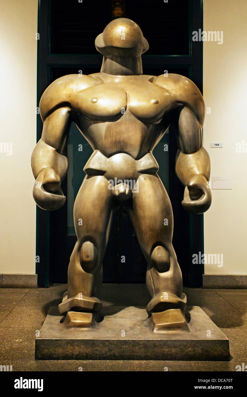 Sculpture, Wrestler 1929, Shown at the tenth Olympic Games los Angeles 1932, Dudley Vaill Talcott American, 1899 - Stock Image