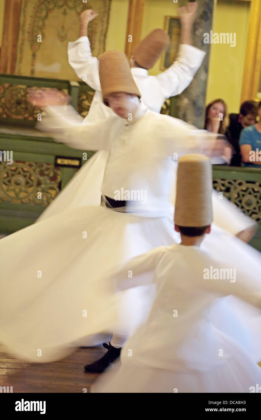 Whirling Dervishes. Istanbul. Turkey - Stock Image