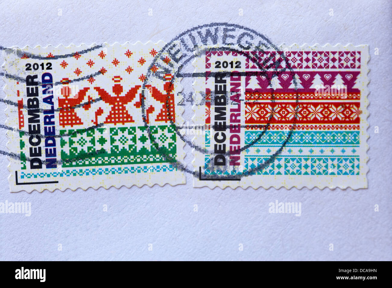 Dutch Christmas stamps 2012 - Stock Image