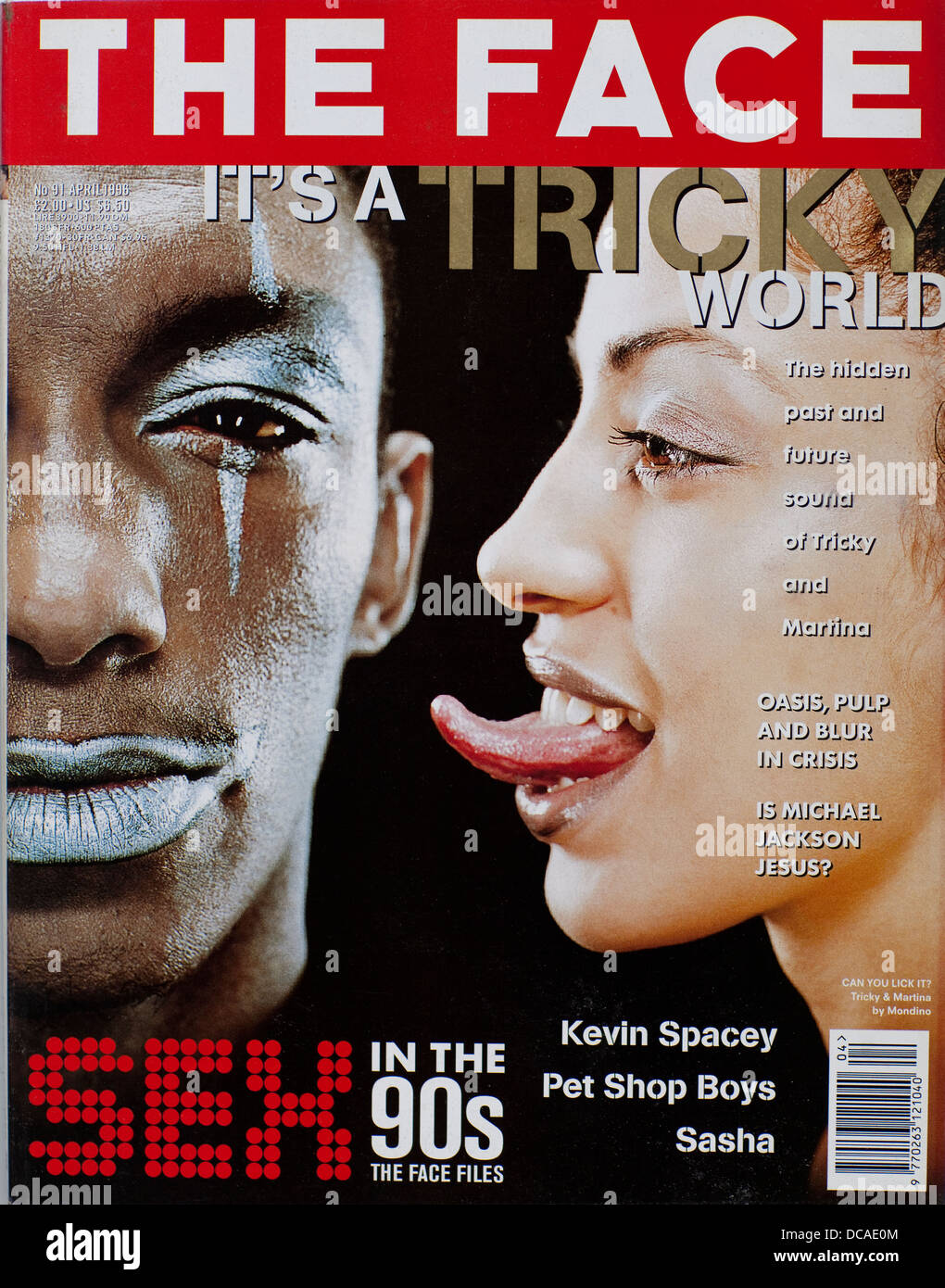 The Face - Volume 2 , Number 91, April 1996 - Tricky - Stock Image