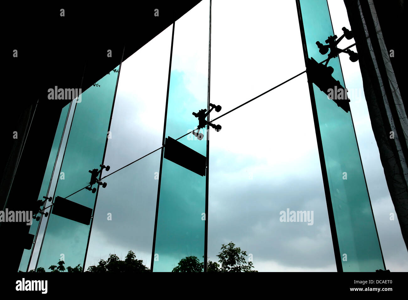 hotel radisson blu interior Agra India hospitality sheet glass structure architecture modern ultramodern contemporary - Stock Image