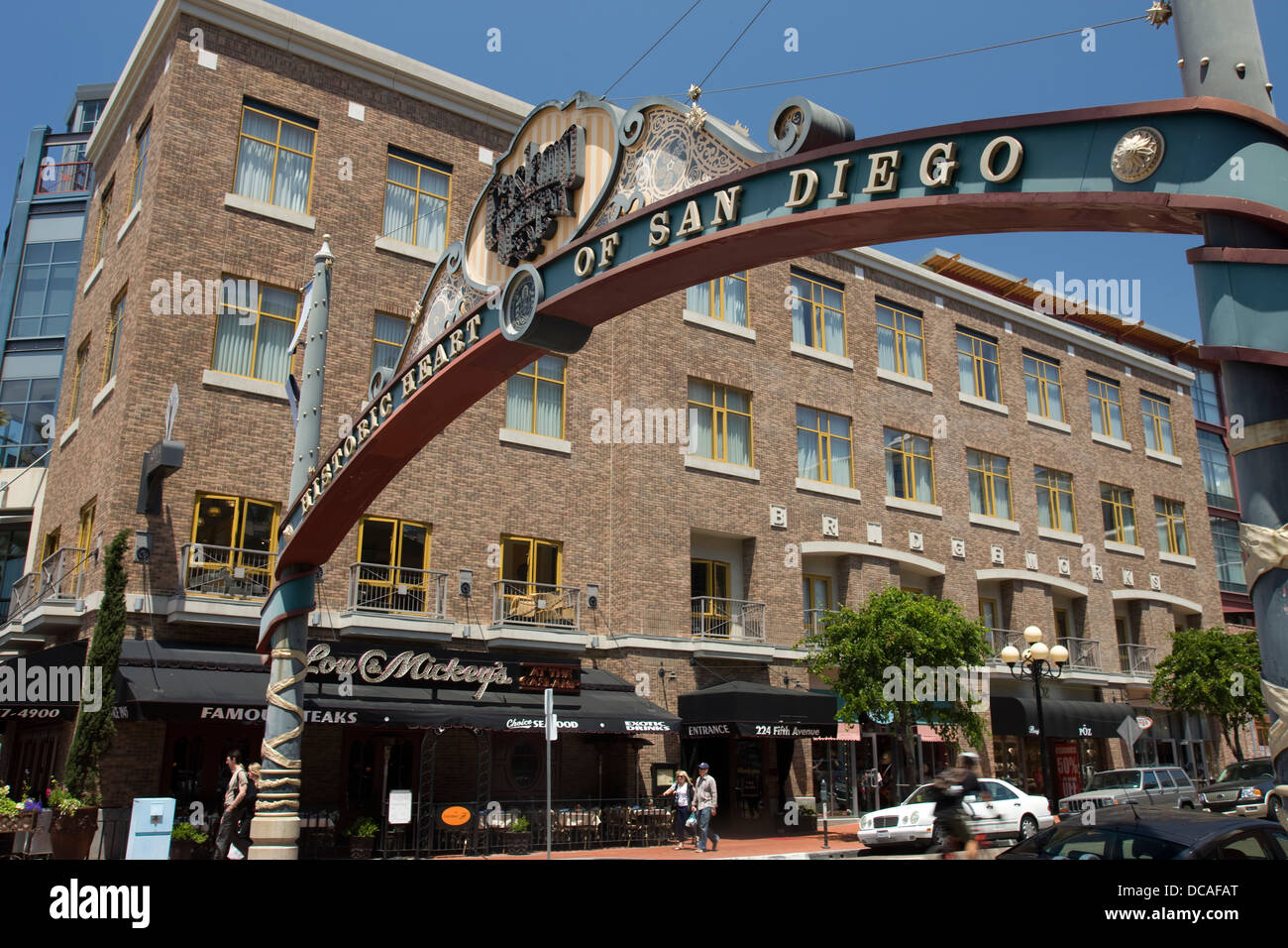 SIGN GASLIGHT DISTRICT FIFTH AVENUE DOWNTOWN SAN DIEGO CALIFORNIA USA    Stock Image