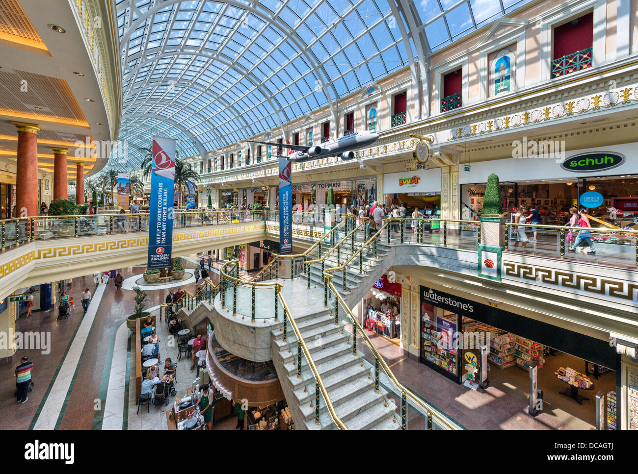 The Trafford Centre shopping complex, Dumplington, Greater Manchester, England, UK - Stock Image