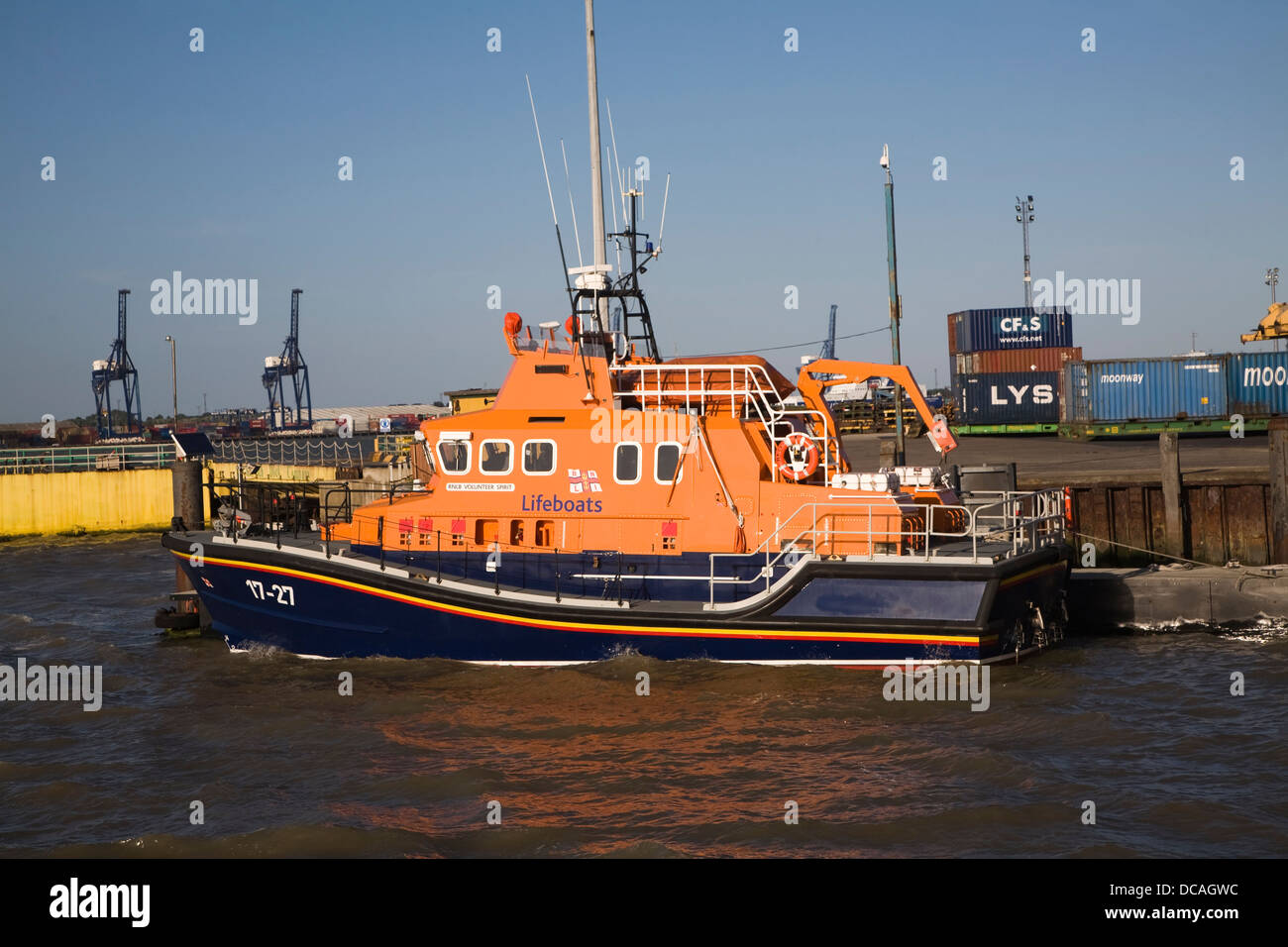 RNLI lifeboat Harwich, Essex, England - Stock Image