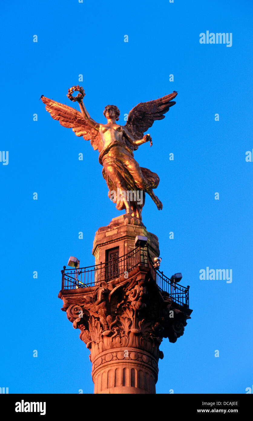 Detail Of Independence Monument Avenida De La Reforma Mexico City