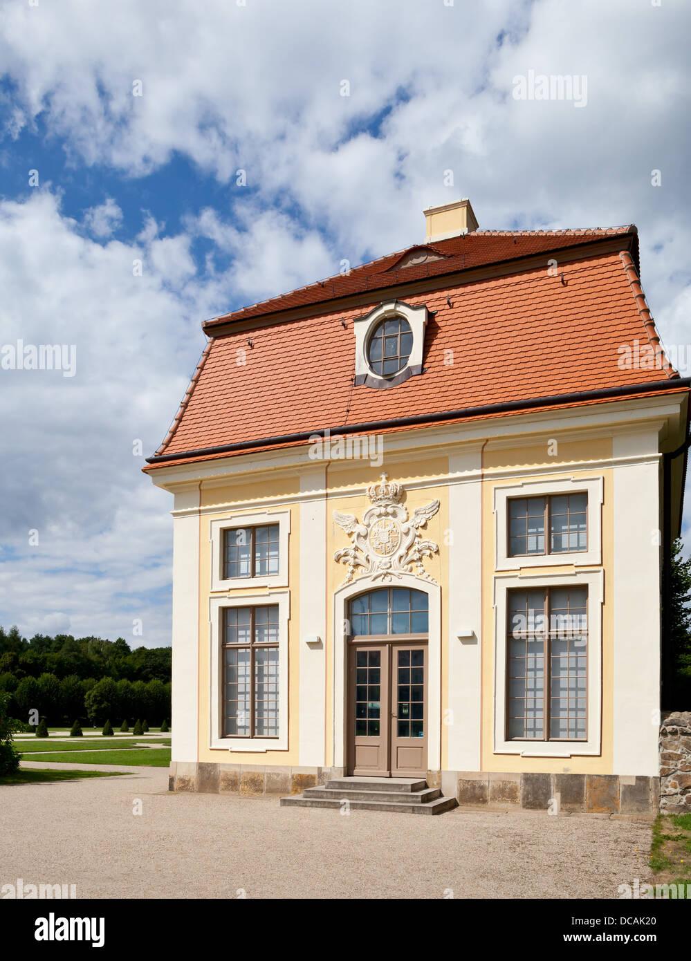 Cavalier's house (Kavaliershaus) at the Moritzburg castle - Saxonia, Germany, Europe Stock Photo