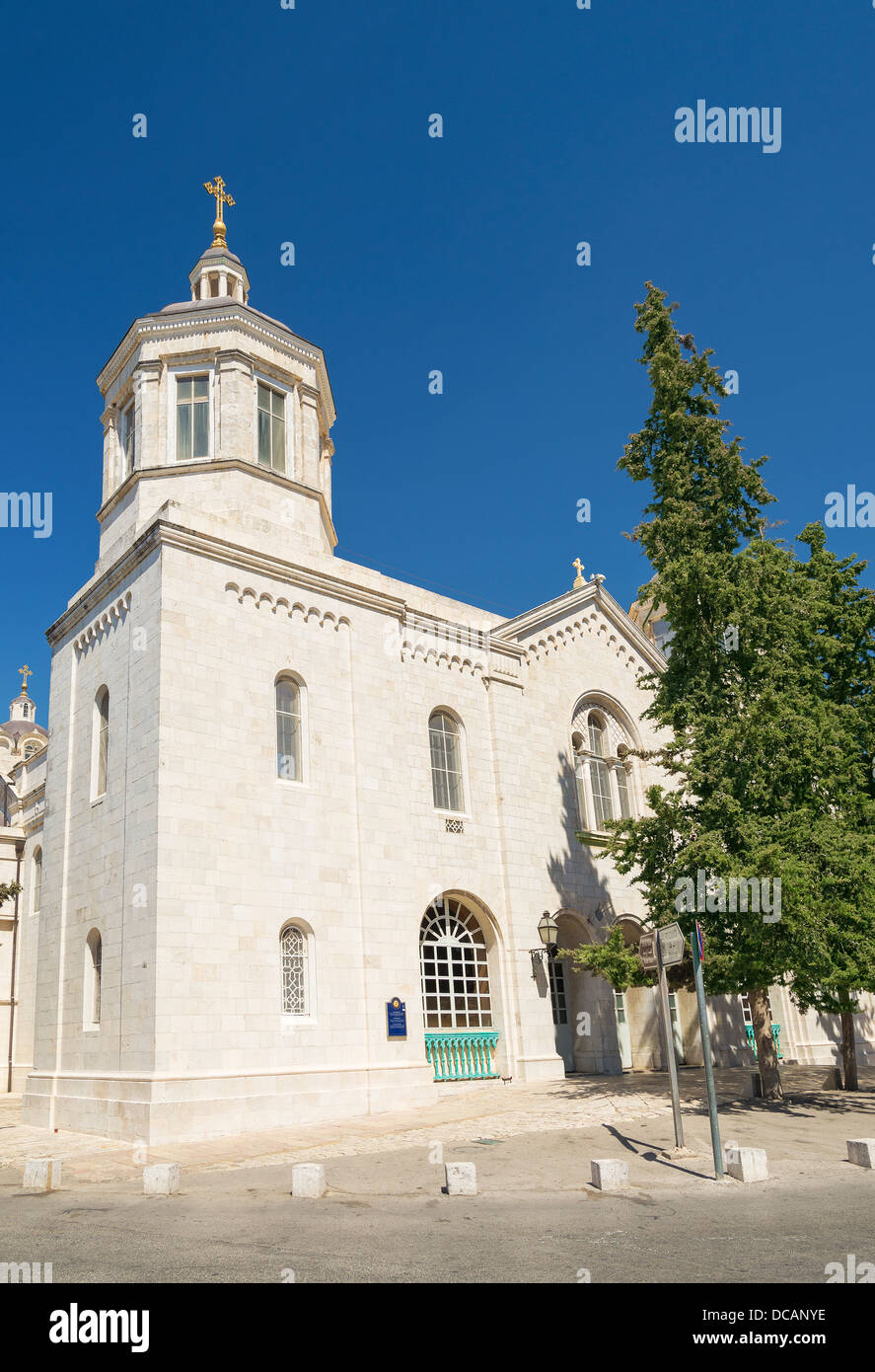 russian church in jerusalem old town israel - Stock Image
