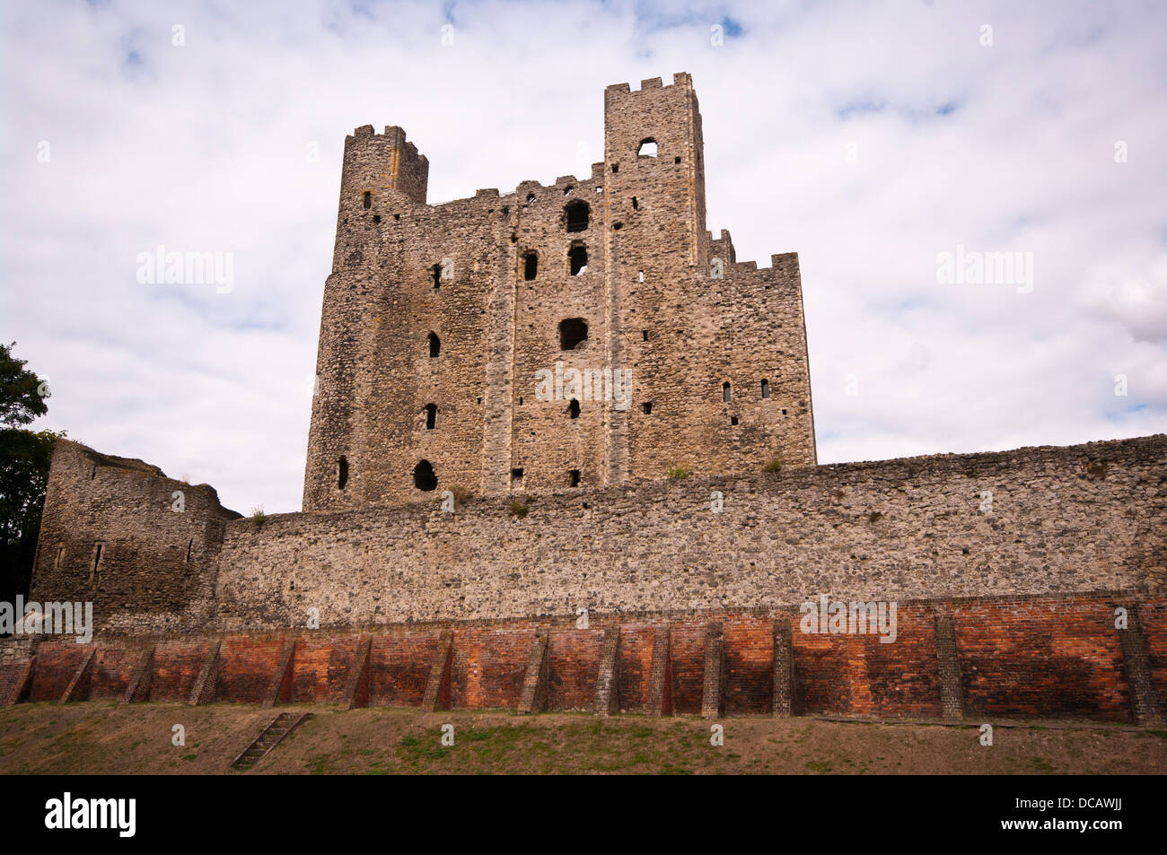 Rochester Castle In The Medway Town City Of Rochester Kent England UK - Stock Image