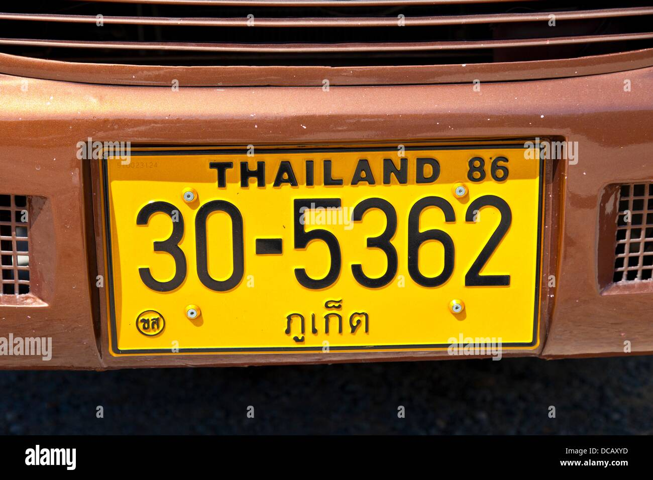 Thailand Number Plate Stock Photos Amp Thailand Number Plate