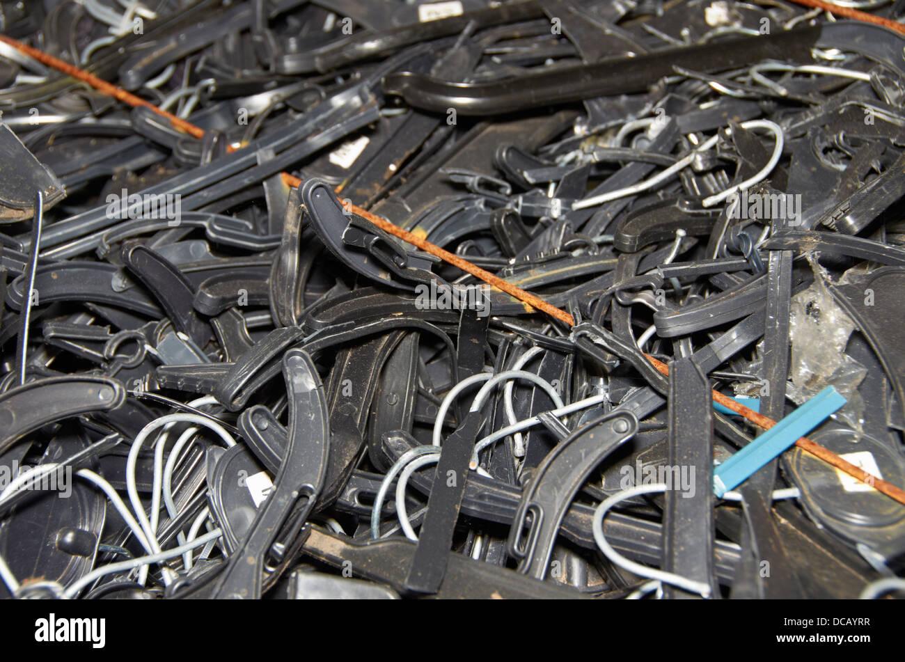 old black plastic coat hangers Stock Photo: 59248331 - Alamy