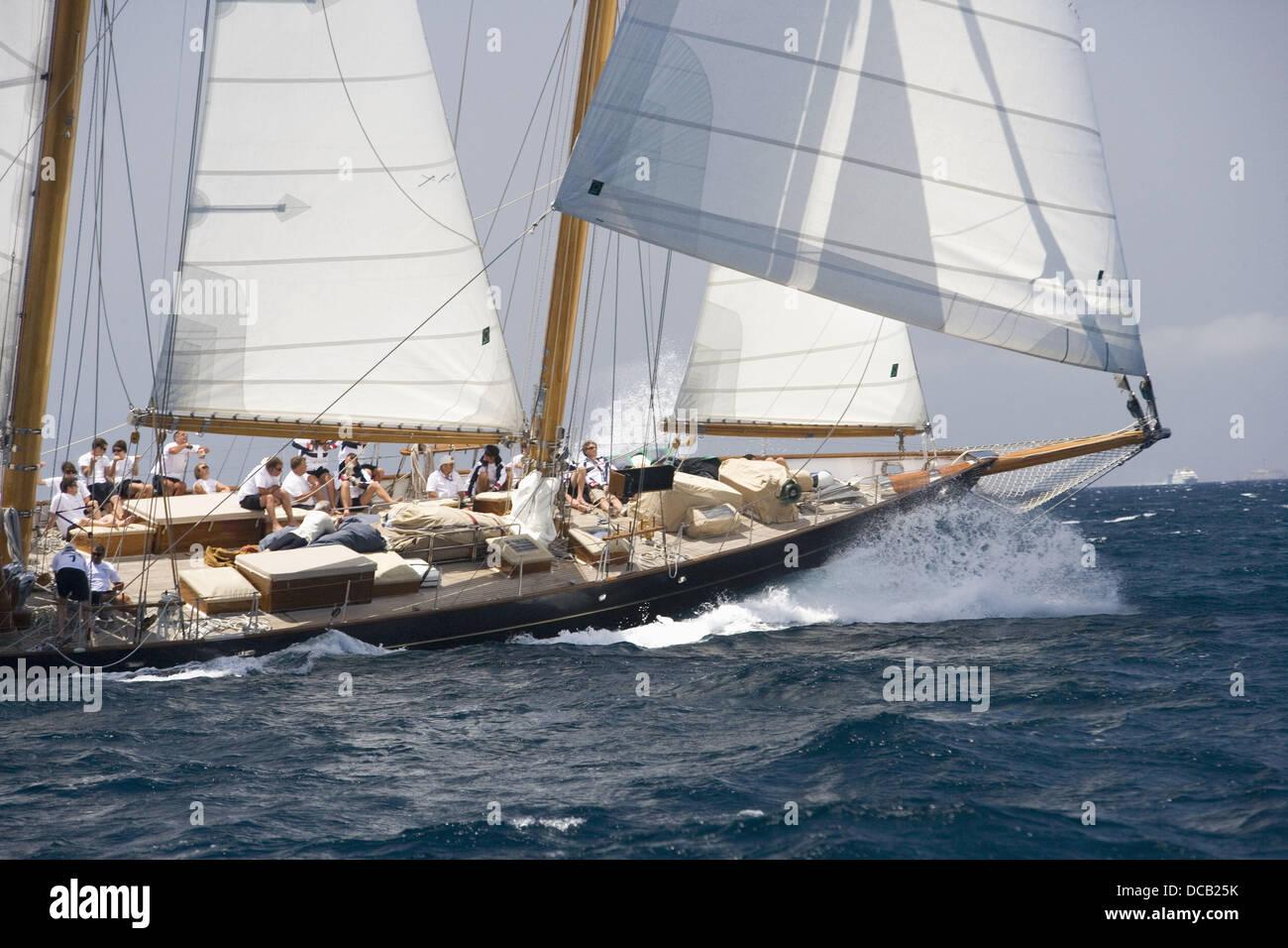 The Superyacht Cup, Palma de Mallorca, Spain Stock Photo