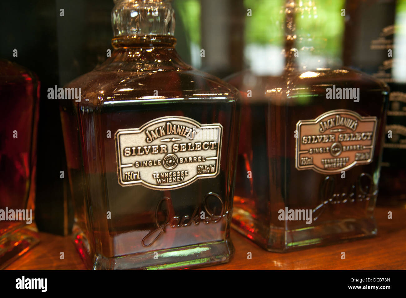 Bottles Of Jack Daniel S Silver Select Whiskey On Sale At The Jack Stock Photo Alamy