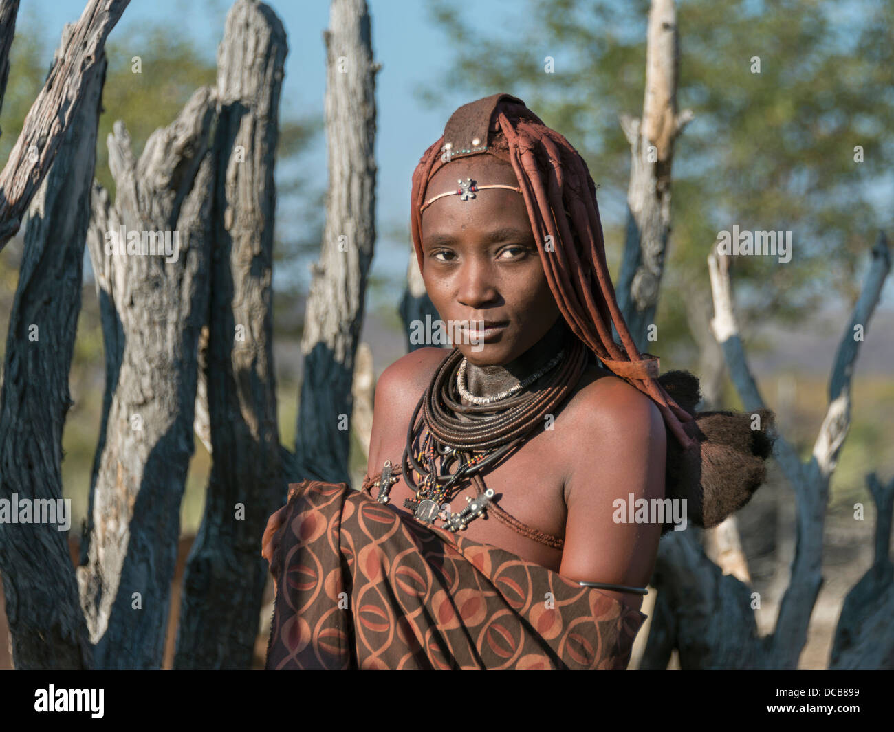 Portrait of a Himba woman - Stock Image
