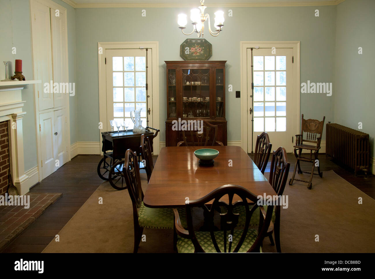 Bon The Dining Room At Rowan Oak The Home Of William Faulkner In Oxford  Mississippi USA