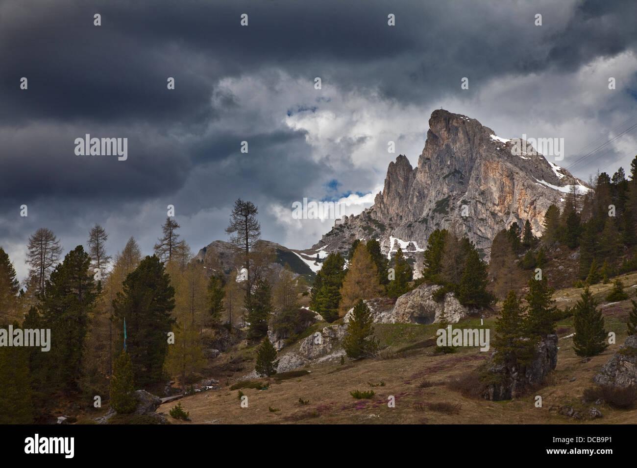 Sass di Stria, Falzarego Pass, Dolomites, Italy - Stock Image