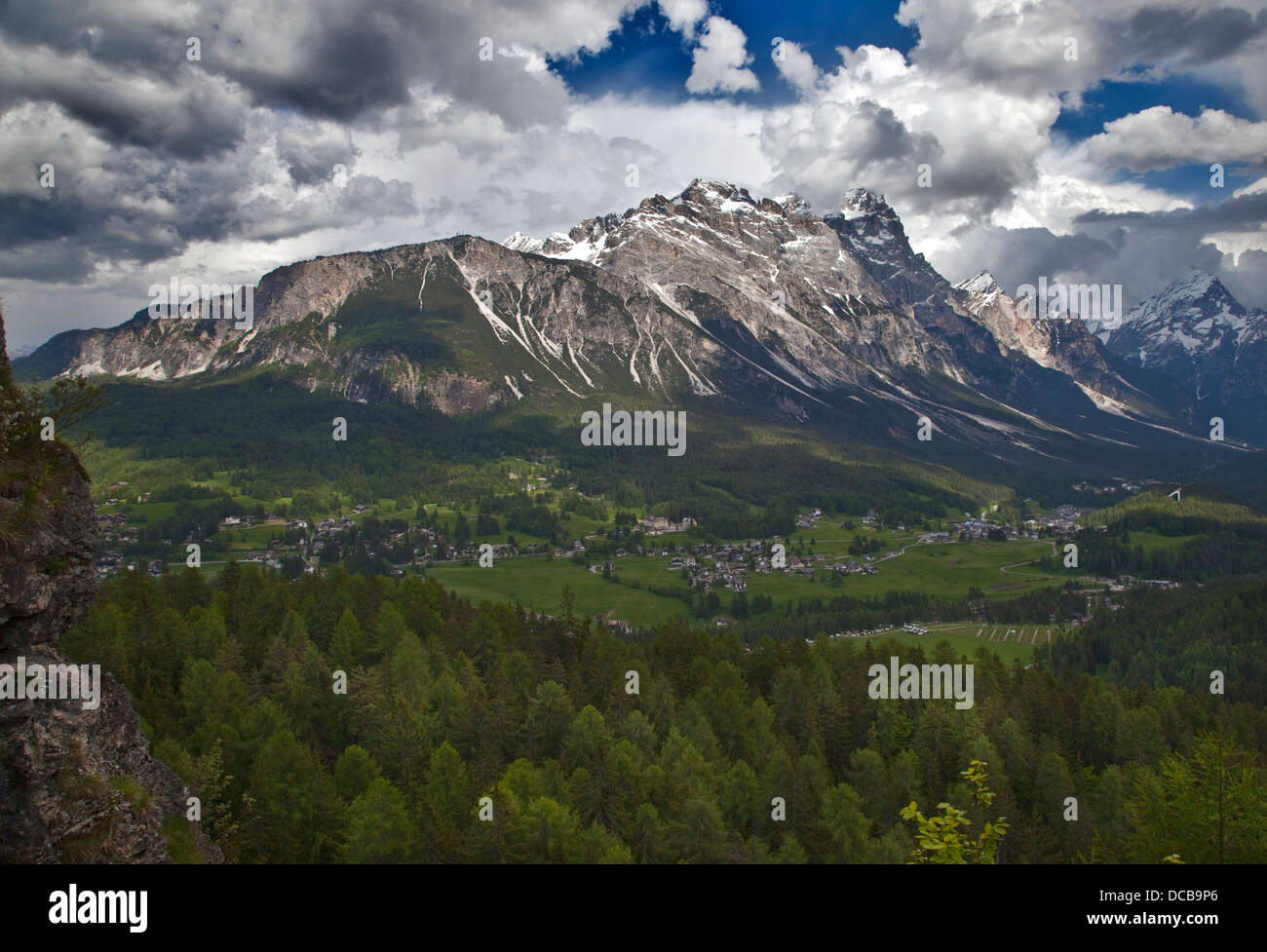 Cortina d'Ampezzo, Dolomites, Italy - Stock Image