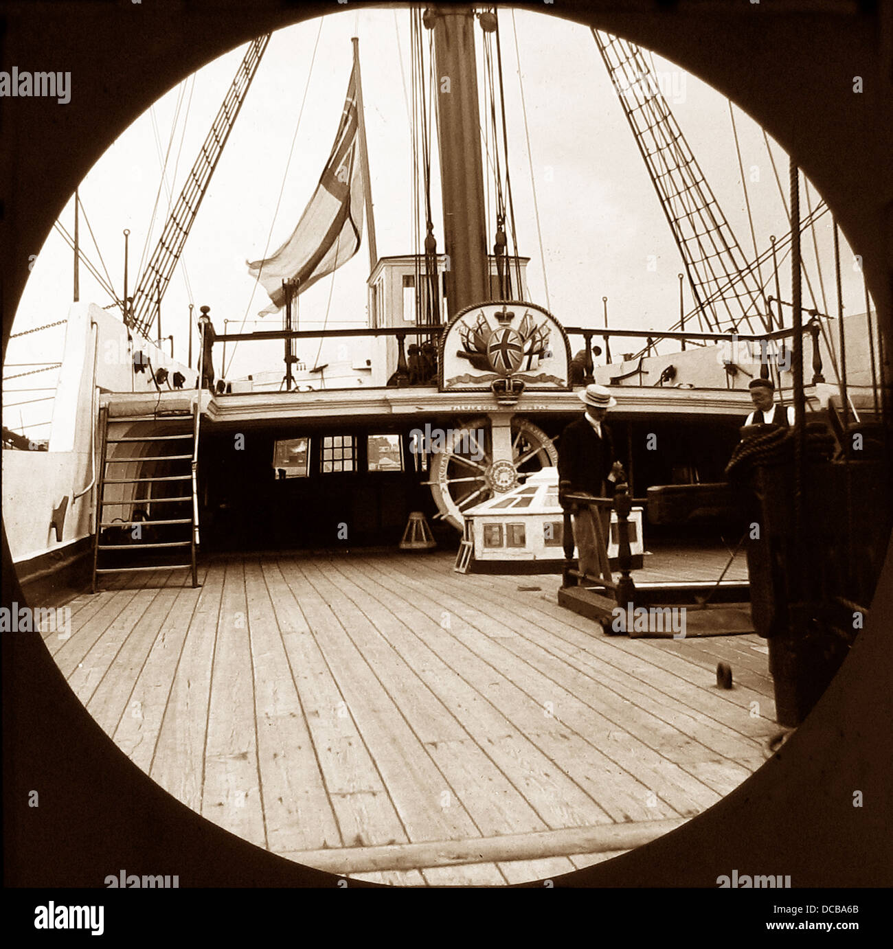 HMS Victory in 1900 - Stock Image