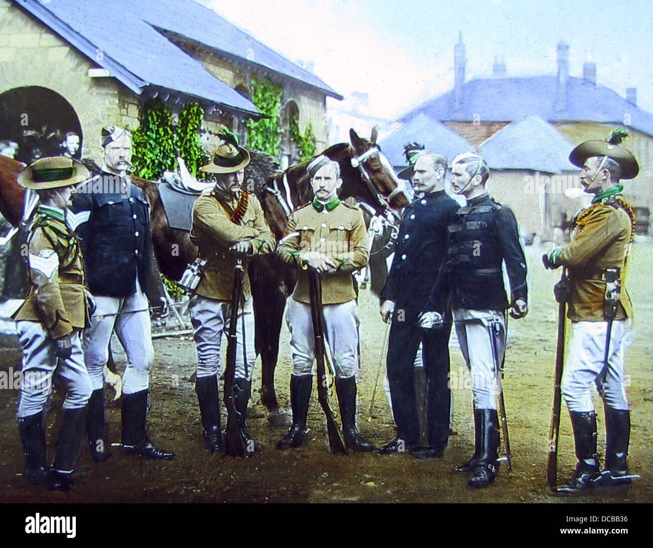 New South Wales Mounted Rifles Victorian period - Stock Image