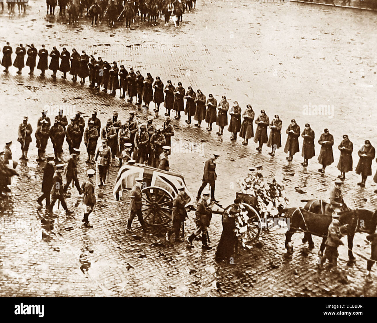 Lord Roberts Funeral in 1914 - Stock Image