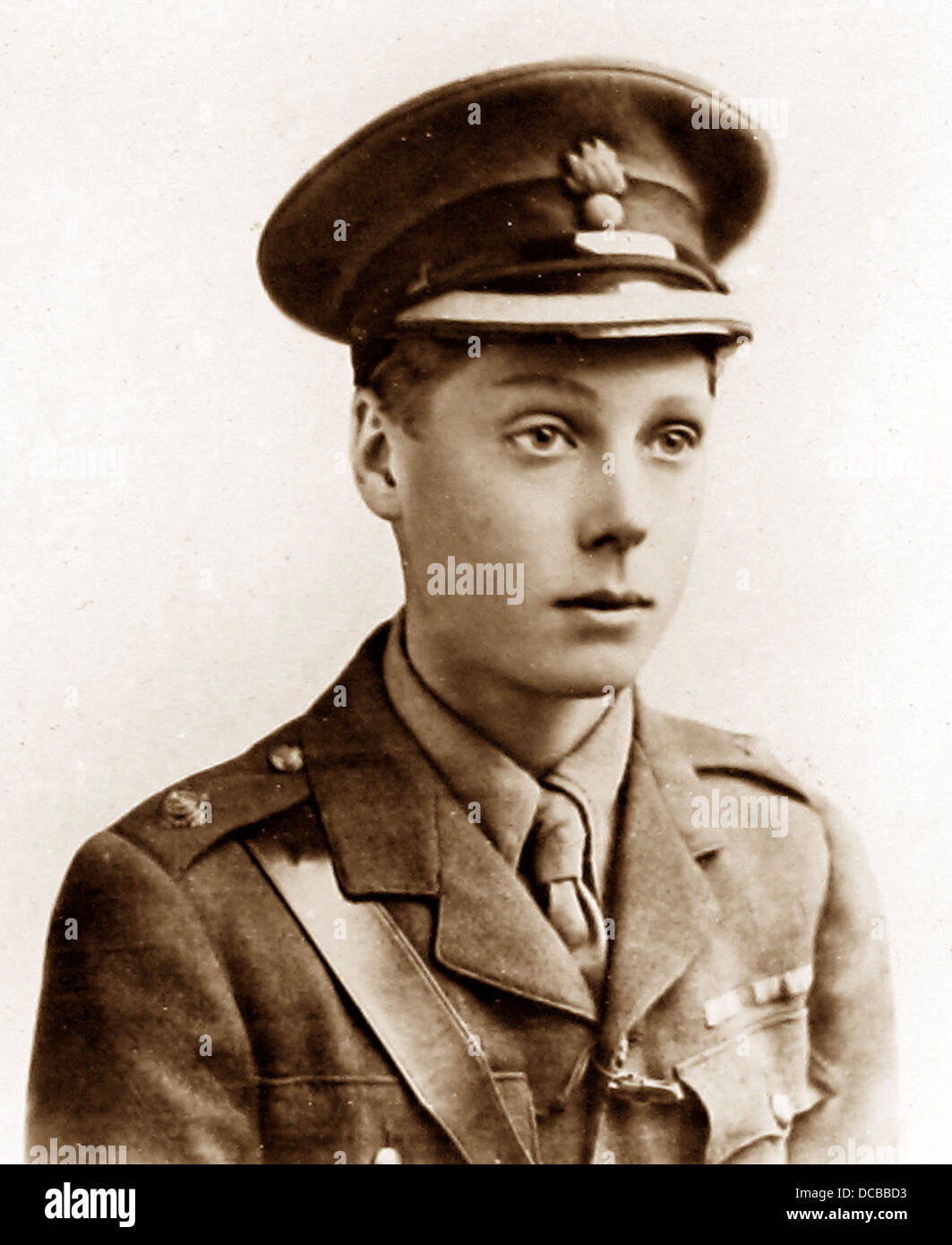 HRH Prince of Wales during WW1 - Stock Image