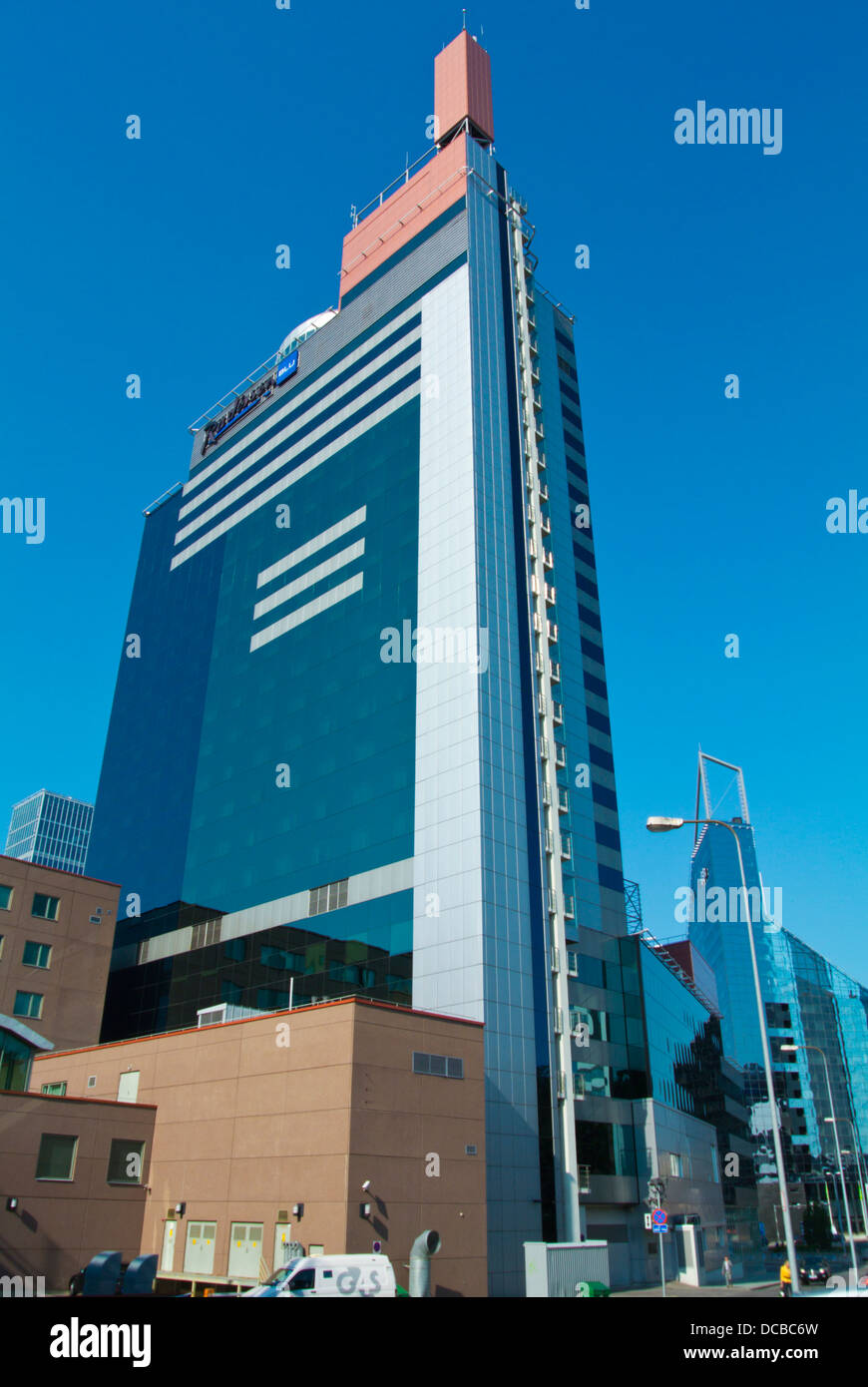 Radisson blu hotel Tallinn city business district Tallinn Estonia the Baltics Europe - Stock Image
