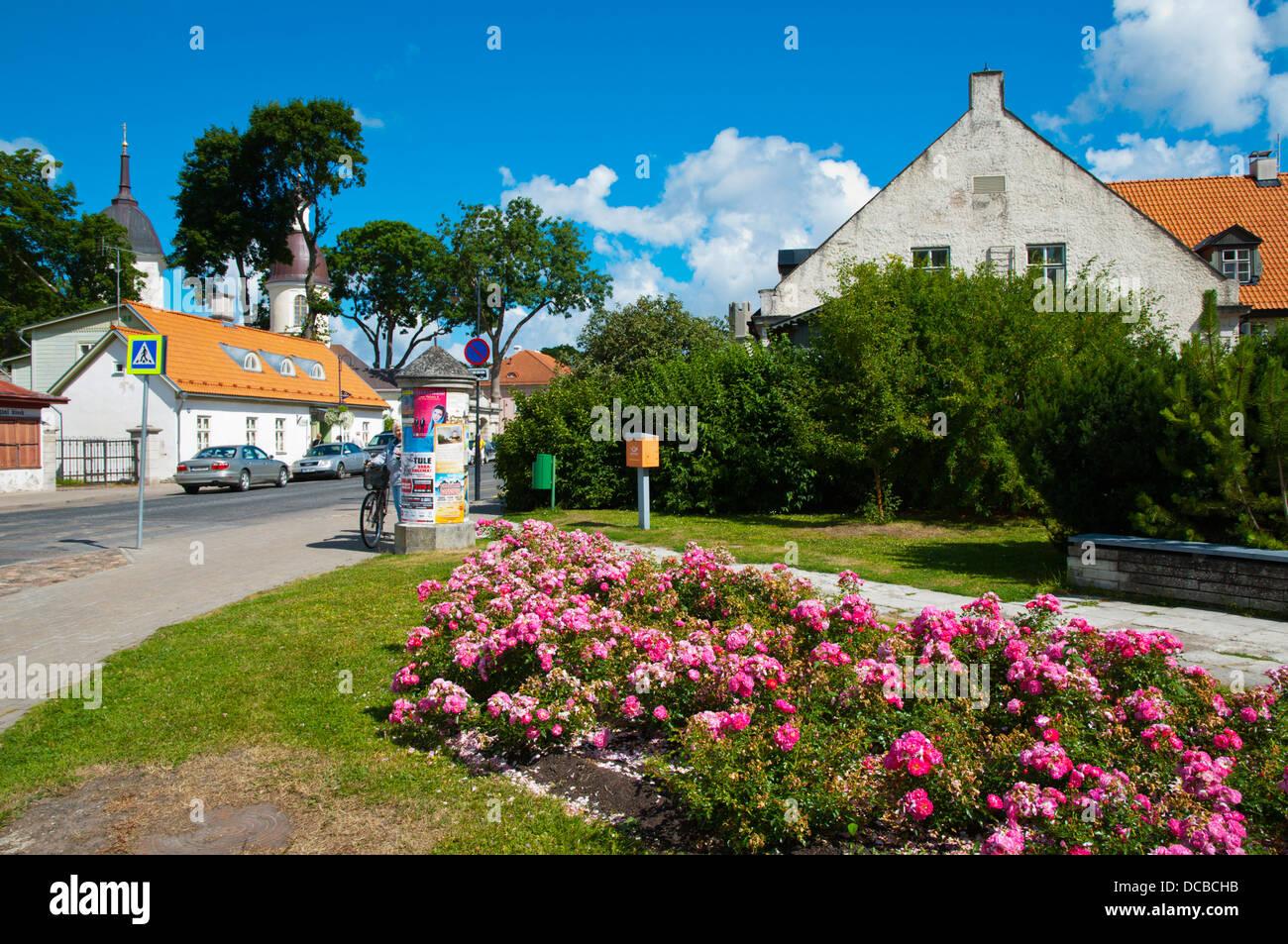 Kuressaare town Saaremaa island Estonia northern Europe - Stock Image