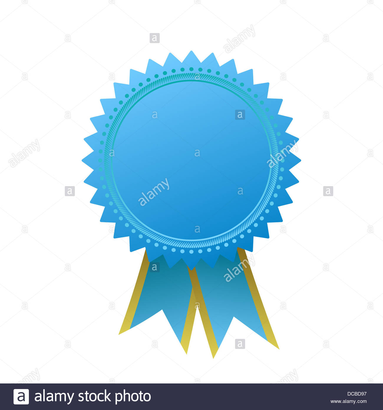 blank guarantee vector element sign certificate with ribbons stock