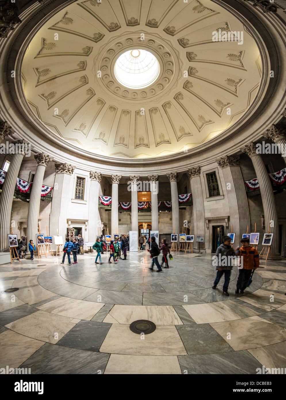 Federal Hall interior in New York, New York, USA. - Stock Image
