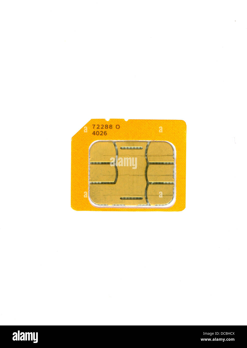 sim card circuit electronics technology memory mobile phone communication - Stock Image