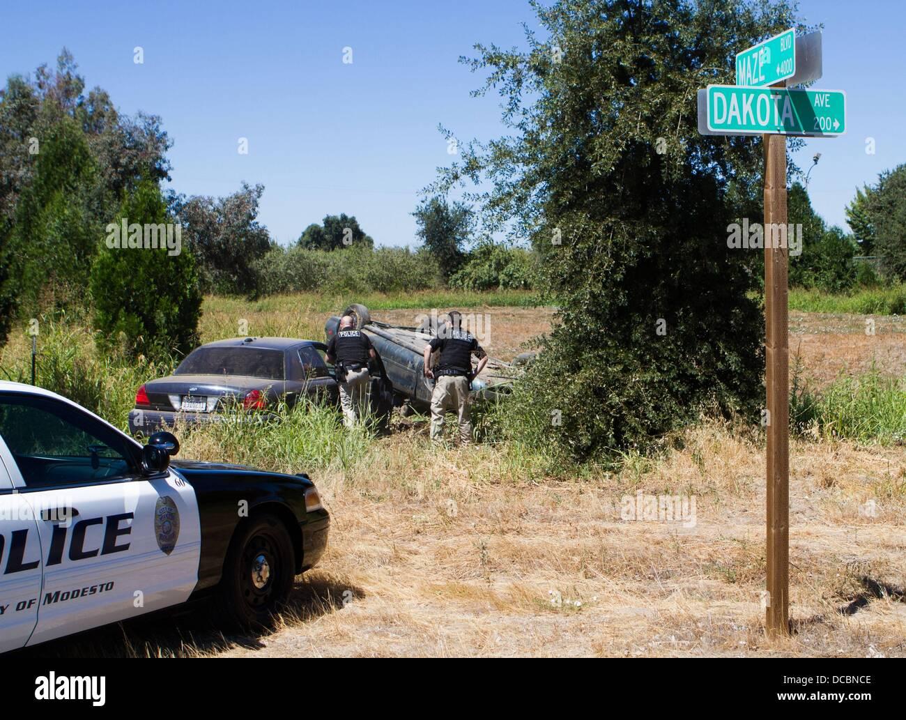 Modesto, CA, USA  14th Aug, 2013  Modesto Police officers