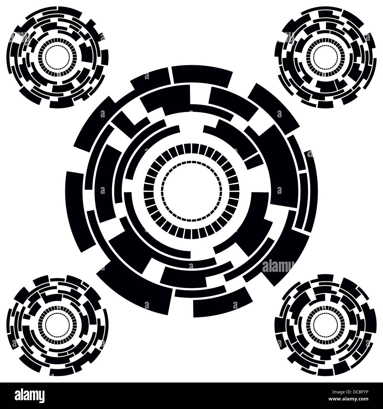 Futuristic Circle Charts - Stock Image