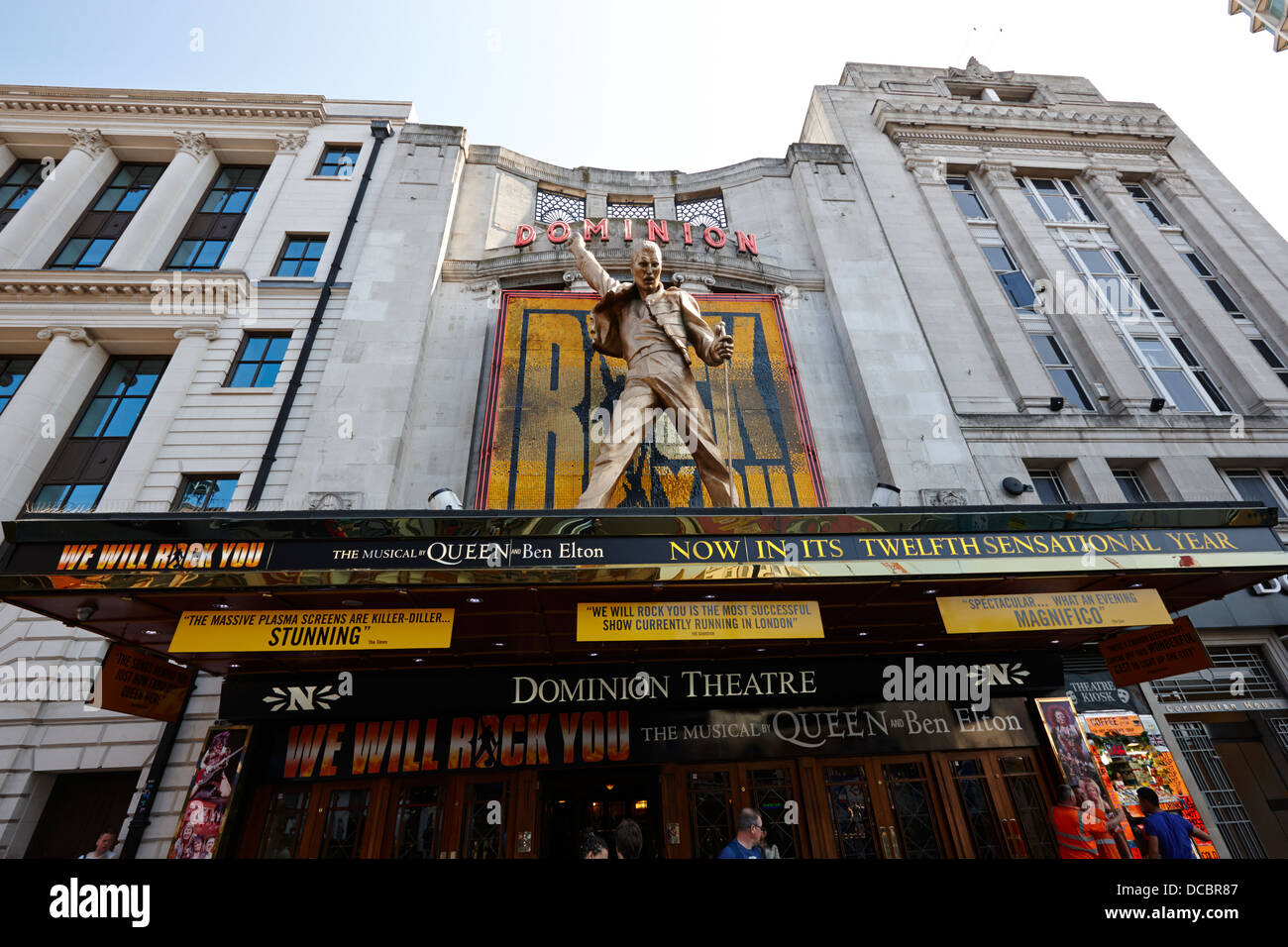The Dominion Theatre With We Will Rock You Freddie Mercury Statue London England UK