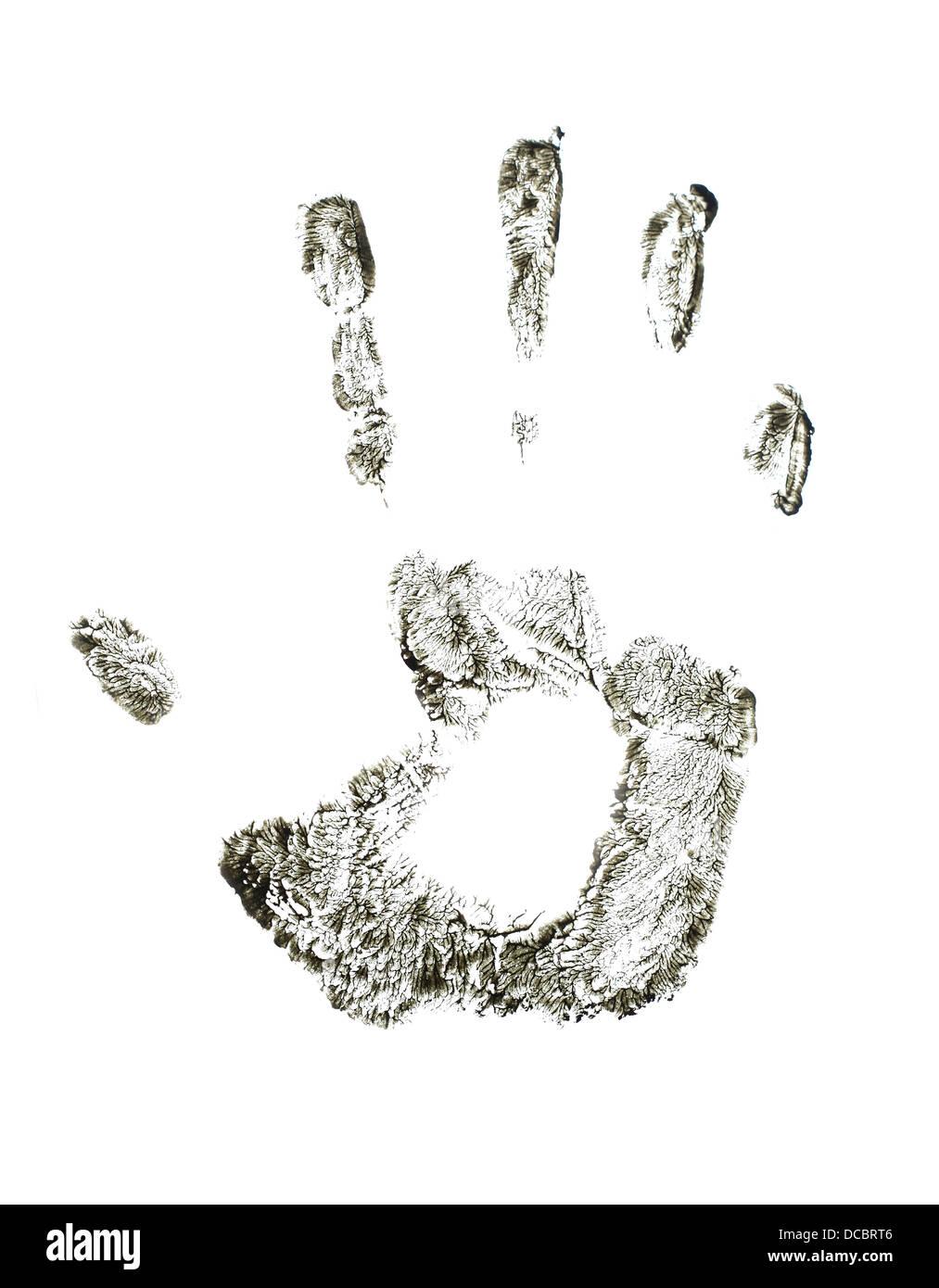 Hand print - Stock Image