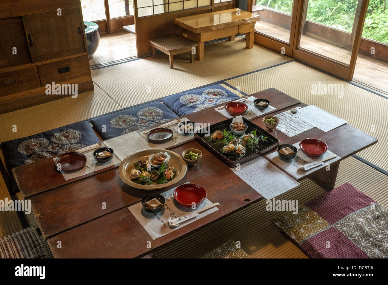 Table setting for traditional Japanese meal & Table setting for traditional Japanese meal Stock Photo: 59267774 ...