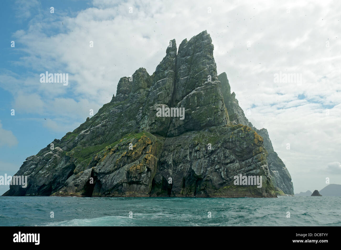 Cliffs on the island of Boreray, St Kilda archipelago, Outer Hebrides, Scotland, UK - Stock Image
