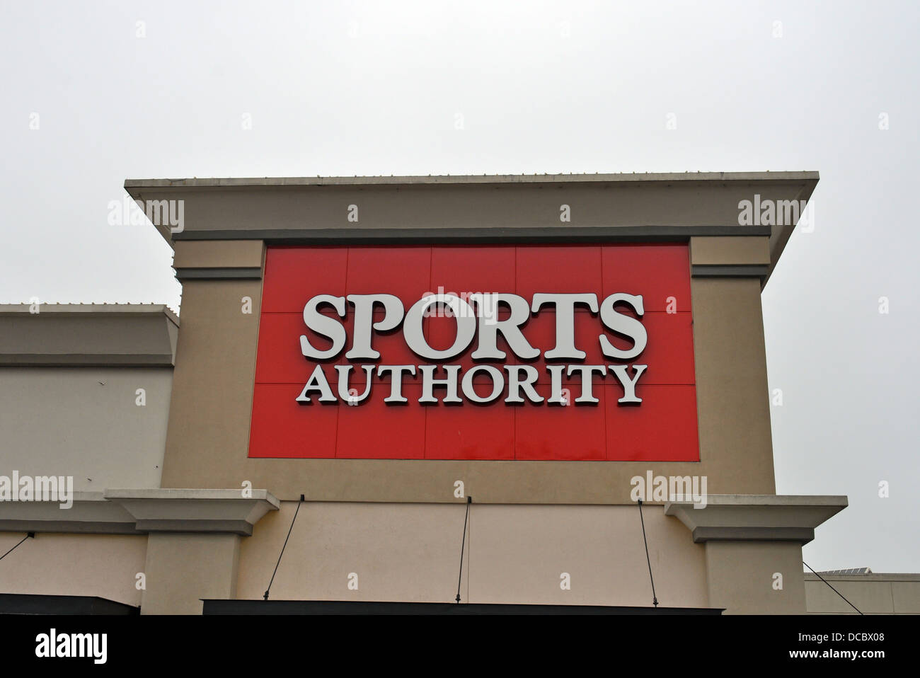 Sports Authority retail store sign - Stock Image