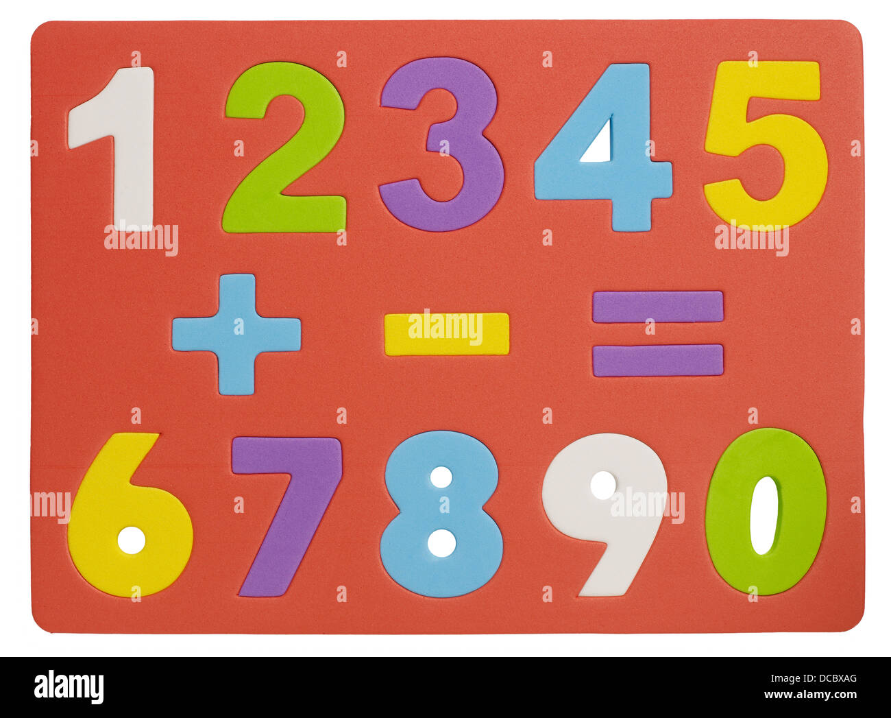 Numbers 1-0 - Stock Image