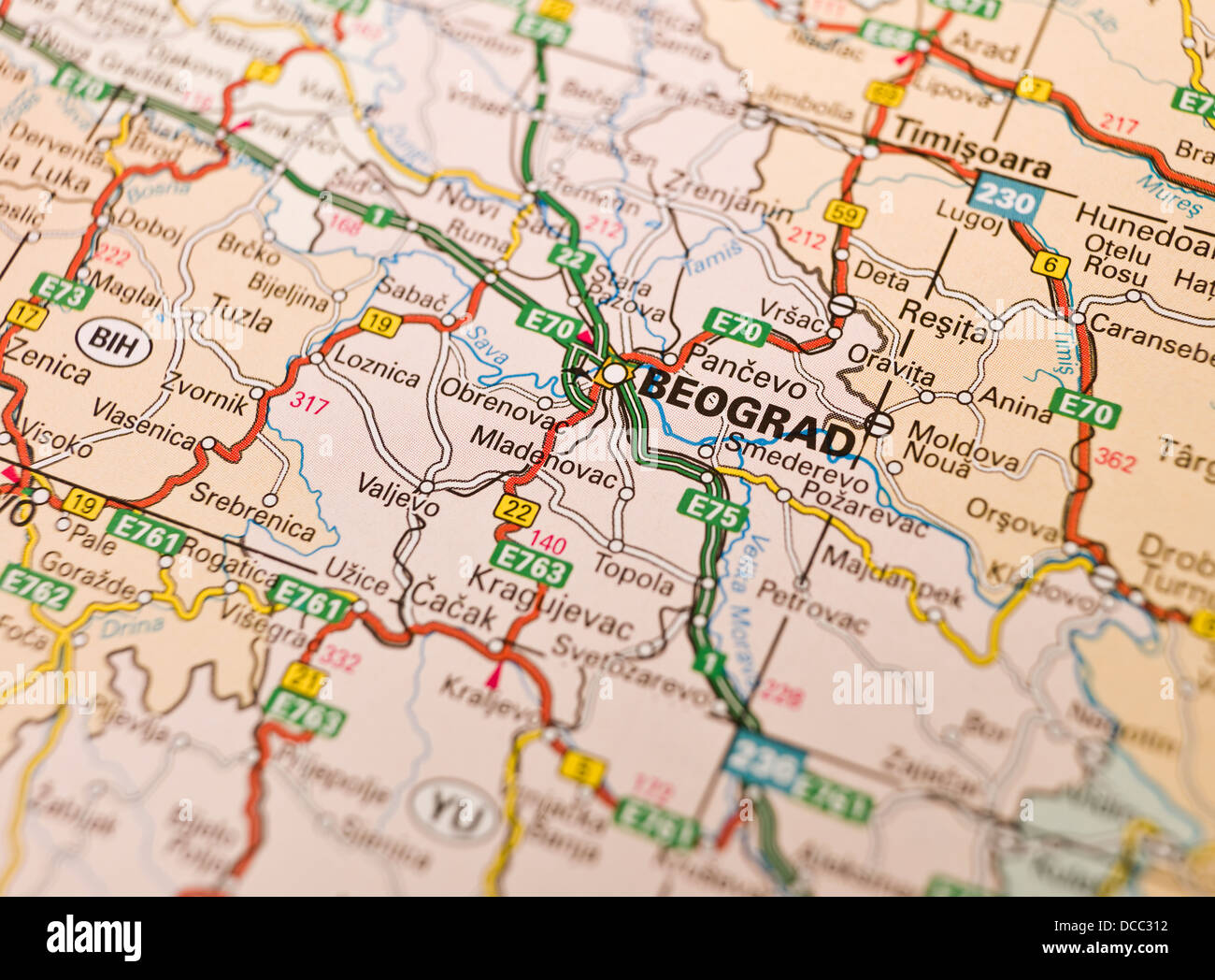 Map Of Beograd Stock Photo 59272782 Alamy